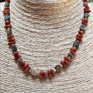 Silpada Sponge Coral Necklace ONLY Sterling N1260